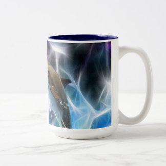 Dolphins and fractal crystals mug