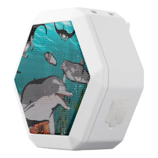 Dolphins and manta rays white boombot rex bluetooth speaker