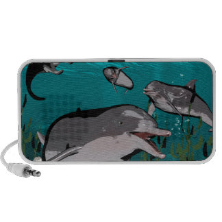 Dolphins and manta rays mini speakers