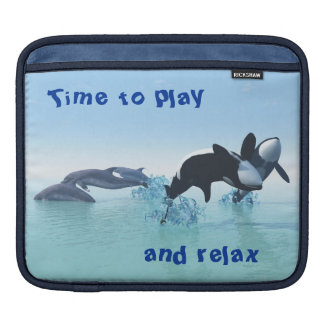Dolphins and Orca's iPad Sleeve