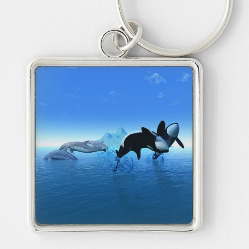 Dolphins and Orca's Keychain Key Chains