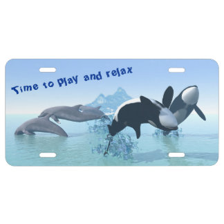 Dolphins and Orca's License Plate