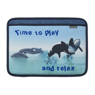 Dolphins and Orca's MacBook Sleeve