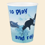 Dolphins and Orca's Paper Cup