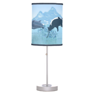 Dolphins and Orca's Table Lamp