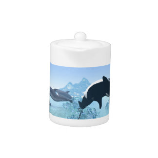 Dolphins and Orca's Teapot