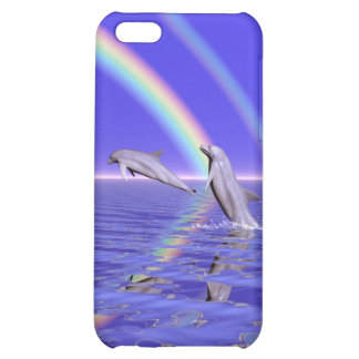 Dolphins and Rainbow Case For iPhone 5C
