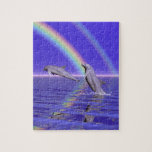 Dolphins and Rainbow Jigsaw Puzzle