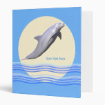 Dolphins and Sun and Waves Binder