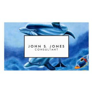 Dolphins and Tropical Fish Art Business Card