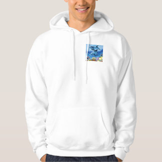 Dolphins and Tropical Fish Art Hoodie