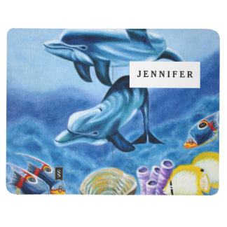 Dolphins and Tropical Fish Art Journal