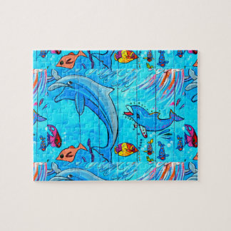 dolphins and tropical fish puzzle
