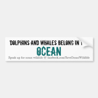 Dolphins and Whales Belong in the Ocean Car Bumper Sticker