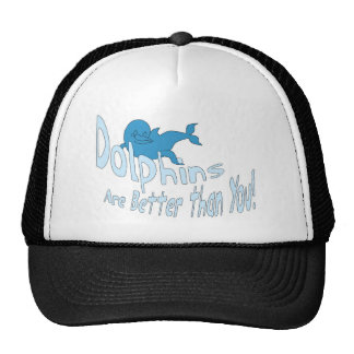 Dolphins Are Better Than You (blue text) Trucker Hat