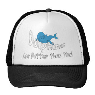 Dolphins Are Better Than You (clear text) Trucker Hat