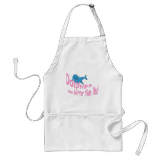 Dolphins Are Better Than You (pink text) Adult Apron