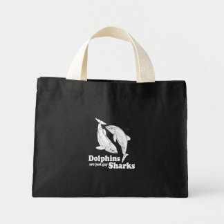 Dolphins are just gay sharks mini tote bag