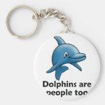 Dolphins are People too Key Chains