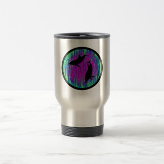 DOLPHINS ARE SPECTACULAR 15 OZ STAINLESS STEEL TRAVEL MUG