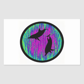 DOLPHINS ARE SPECTACULAR RECTANGULAR STICKER