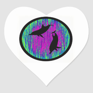 DOLPHINS ARE SPECTACULAR HEART STICKER