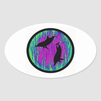 DOLPHINS ARE SPECTACULAR OVAL STICKER