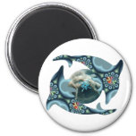 Dolphins at Dione 2 Inch Round Magnet