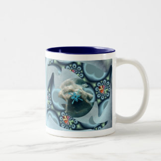 Dolphins at Dione Two-Tone Coffee Mug
