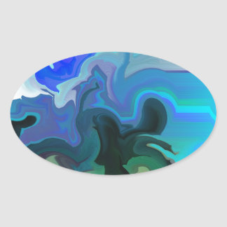 Dolphins at Play.JPG Oval Sticker