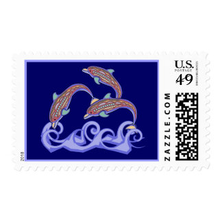 Dolphins at Play Postage Stamps
