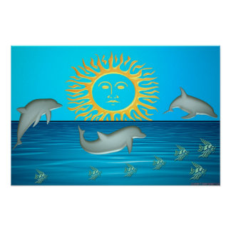 Dolphins at play print