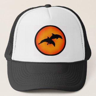 DOLPHINS AT PLAY TRUCKER HAT