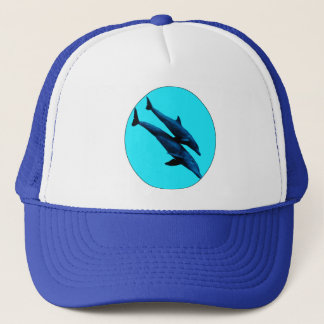 Dolphins at sea trucker hat
