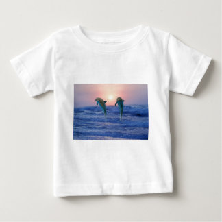 Dolphins at sunrise baby T-Shirt