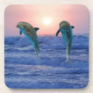 Dolphins at sunrise coasters
