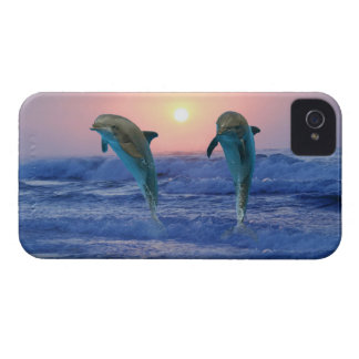 Dolphins at sunrise iPhone 4 Case-Mate case