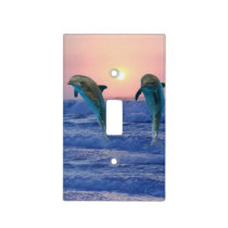 Dolphins at sunrise light switch cover