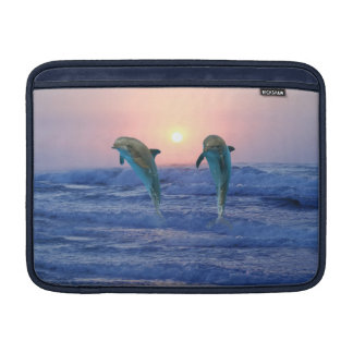 Dolphins at sunrise MacBook air sleeve