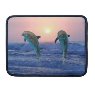 Dolphins at sunrise sleeve for MacBooks