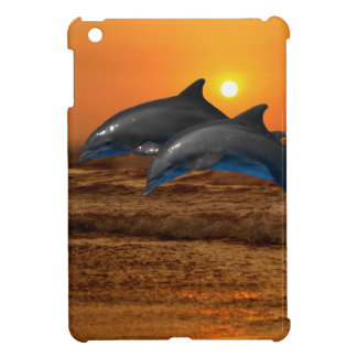 Dolphins at sunset cover for the iPad mini
