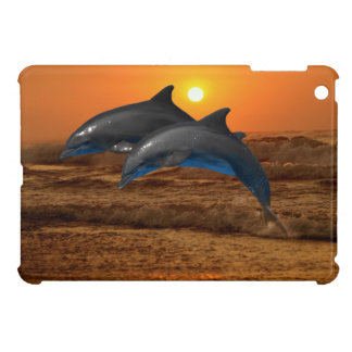 Dolphins at sunset iPad mini covers