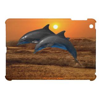 Dolphins at sunset iPad mini case