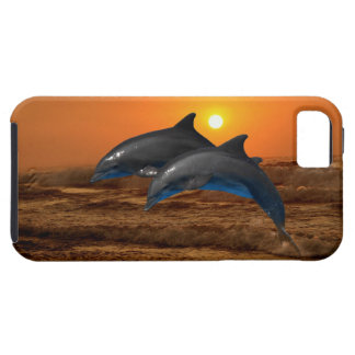 Dolphins at sunset iPhone SE/5/5s case