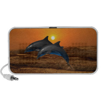 Dolphins at sunset PC speakers