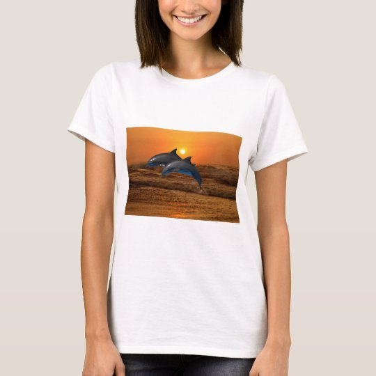 Dolphins at sunset T-Shirt