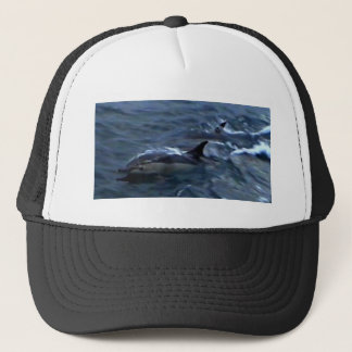 Dolphins at the boatside trucker hat