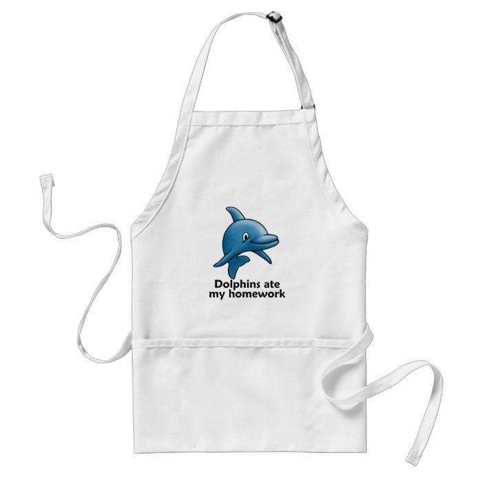 Dolphins Ate My Homework Adult Apron