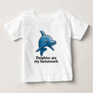 Dolphins Ate My Homework Baby T-Shirt