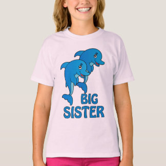 Dolphins Big Sister Dolphin Kids T-shirt